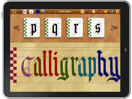 Calligraphy iPad app