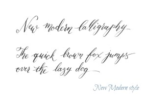 Jane's New Modern Calligraphy style