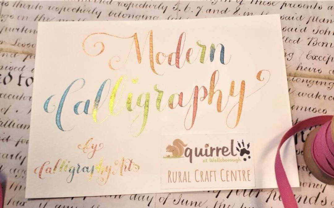 Modern Calligraphy at Squirrel Cafe, Wellsborough