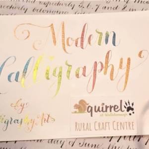 Modern Calligraphy at Squirrel at Wellsborough