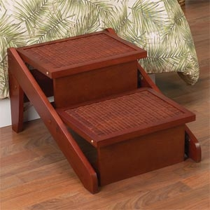 Folding Wicker Wood Ramp Steps 2 3 Step   3 Step Wooden Stairs   2 Step   Easy   Stringer   Tread   Outside