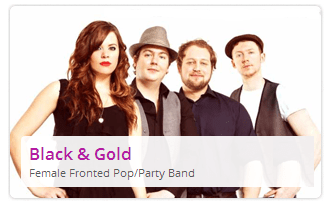 black and gold pop band