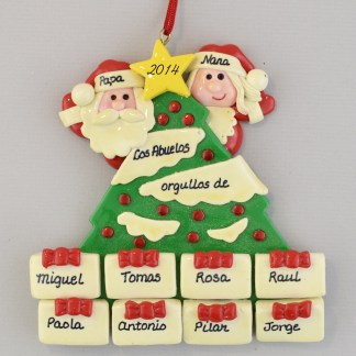 Grandpa and Grandma Are Proud personalized Christmas Ornaments