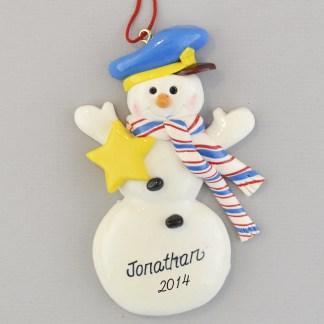 Police Snowman Personaized Christmas Ornaments