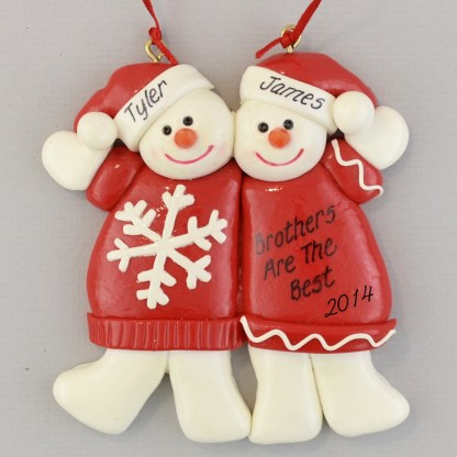 Brothers, Best Friends, Twins personalized christmas Ornaments