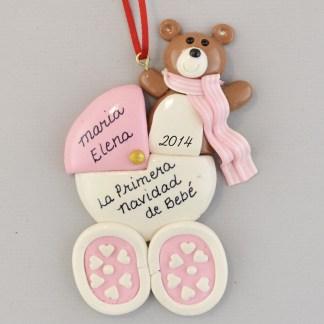 La Primera Navidad Baby Girl's Carriage personalized Christmas Ornaments