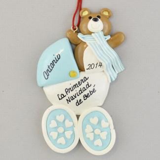 La Primera Navidad Baby Boy's Carriage personalized Christmas Ornaments
