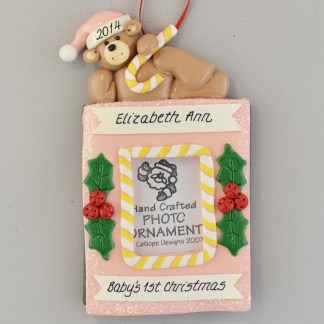 Personalized Photo Frame Baby girl's First Christmas Ornaments