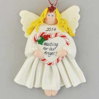 Waiting for Our Adopted Angel personalized christmas Ornaments