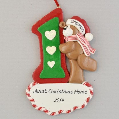 Adopted Son's personalized First Christmas Ornaments