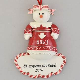 Pregnant Mother to Be Personalized christmas Ornaments