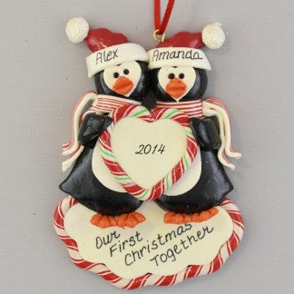 personalized Penguin's First Christmas Ornaments
