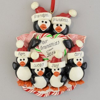 Four Grandkids Come for Christmas Personalized christmas Ornaments