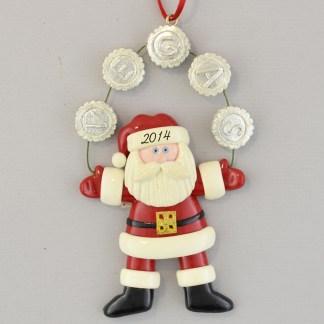 The Las Vegas Santa personalized christmas Ornaments
