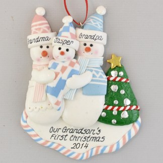First Grandchild Personalized Christmas Ornament