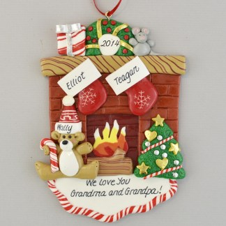 We Love Grandma and Grandpa Personalized christmas Ornaments