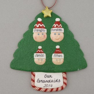 Grandparents of 2 Personalized Christmas Ornaments