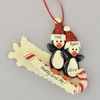 Daddy and Me Personalized Christmas Ornament