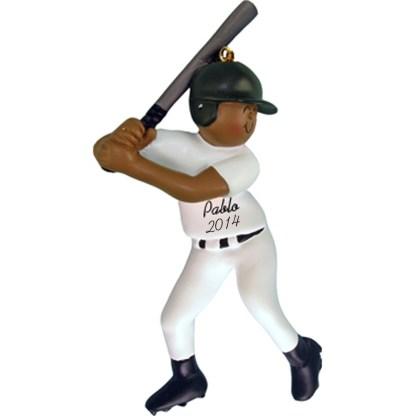 Baseball Player Male, personalized christmas ornament
