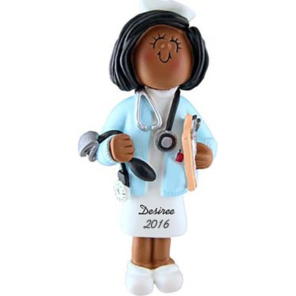 Nurse: Female Personalized Christmas Ornament-0