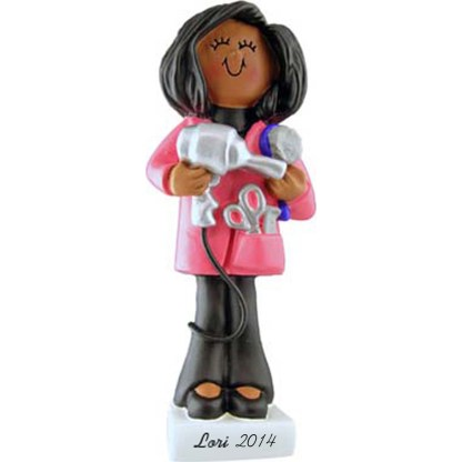 Hairdresser: Female Personalized christmas Ornament