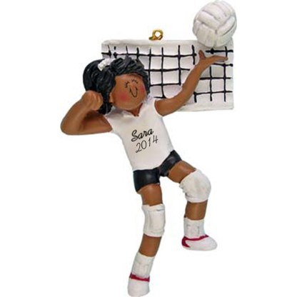 Volleyball Ethnic Female Personalized christmas Ornament