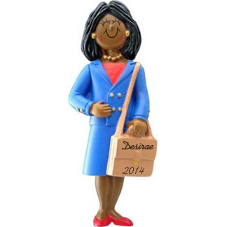 Business Woman: Personalized christmas Ornament