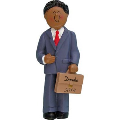 Business Man: Personalized christmas Ornament