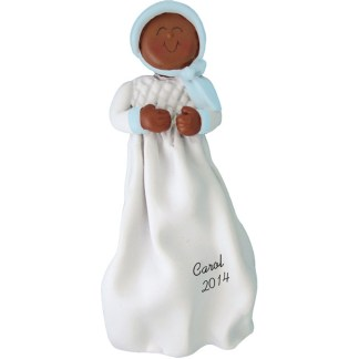 Baptism/Christening Ethnic Boy Personalized christmas Ornament