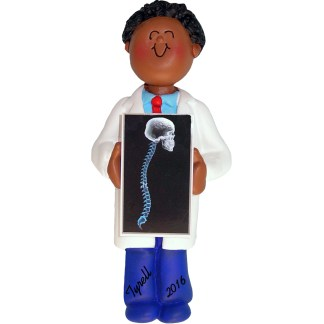 chiropractor x ray tech personalized christmas ornament