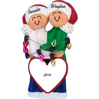 couple first christmas personalized christmas ornament