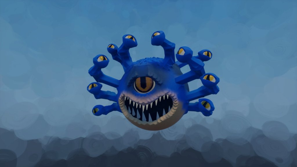 A Beholder from D&D made in Dreams PS4