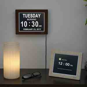 A room wall and a desk display with the Best Digital Alarm Clock