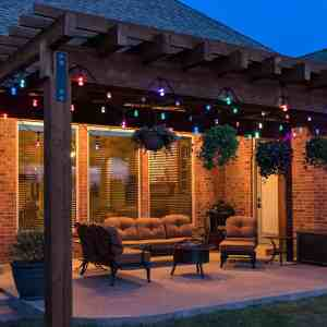 Decorated home balcony looks attractive with Outdoor Patio Lights