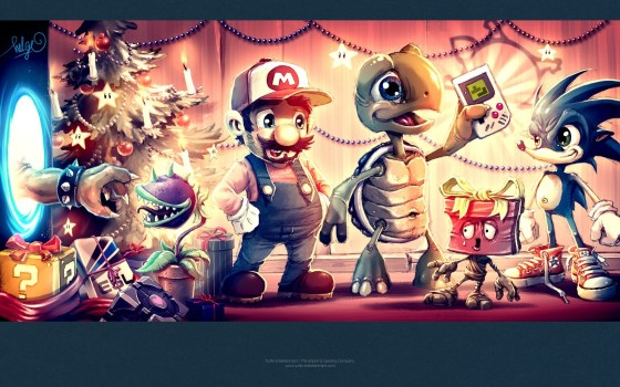 video-games-portal-tetris-super-mario-companion-cube-christmas-bowser-plants-vs-zombies-sonic-game-boy-art-hd-wallpaper