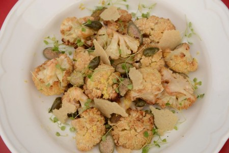 roasted-cauliflower-with-caper-berries-microgreens-and-plant-based-parmesan