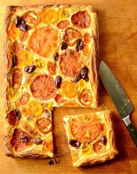 Delicious, seasonal, tomato tart
