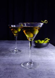 Olive Martini and Green Olives