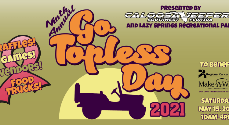 Caloosa Jeepers 2021 Go Topless Day Logo