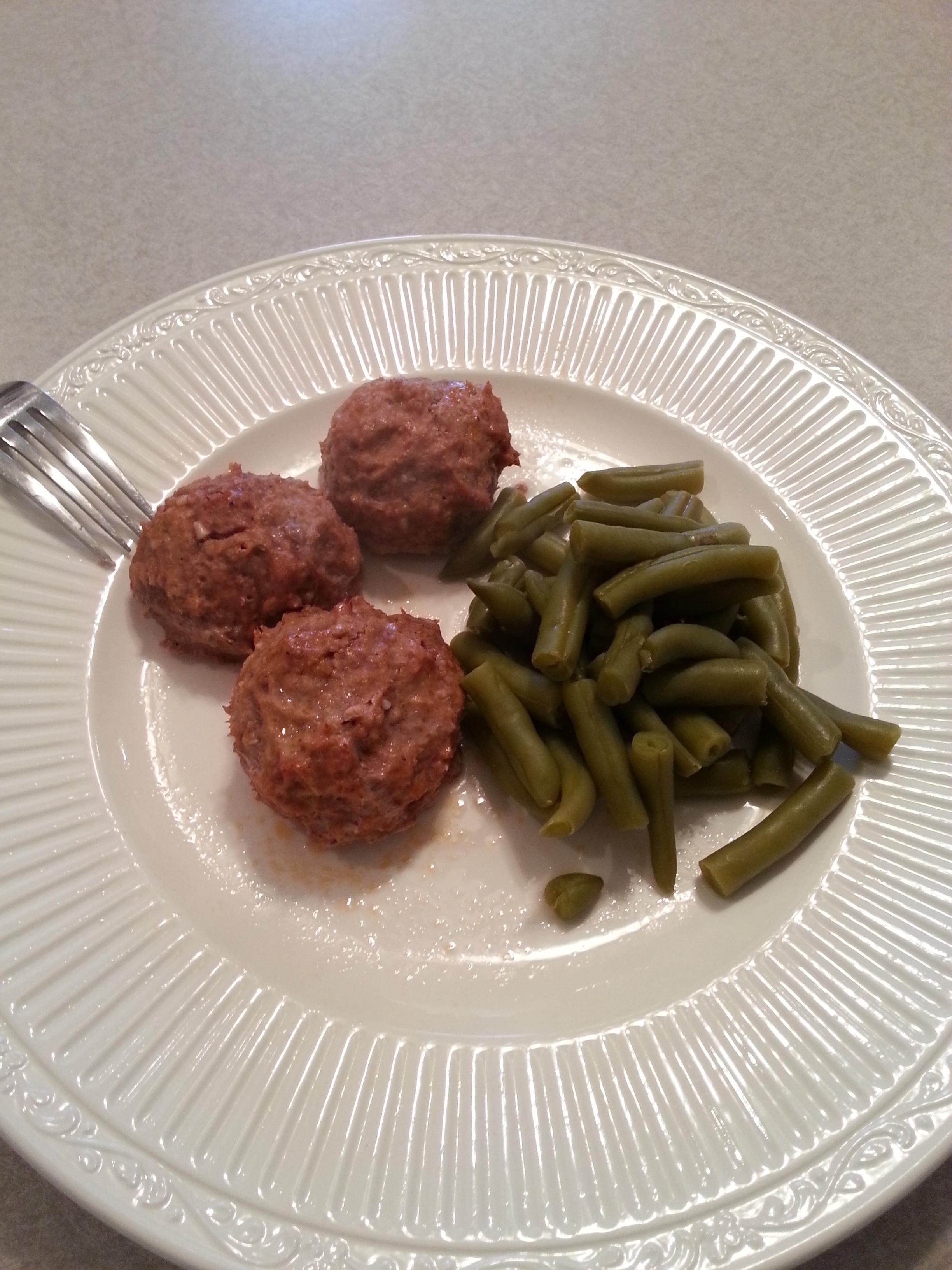 Turkey Meatballs And Green Beans Calorie Warrior