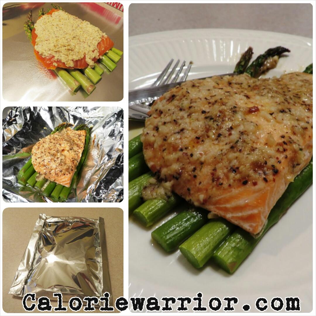 Garlic Parmesan Salmon Foil Pack Steps