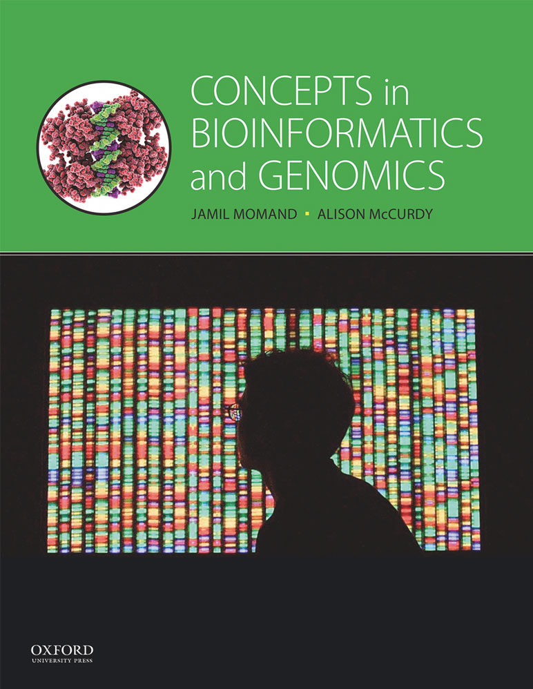 """Book cover for """"Concepts in Bioinformatics and Genomics"""""""