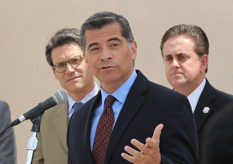 Attorney General Xavier Becerra speaks at Cal State LA in support of Dreamers.