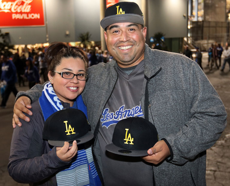 Alumni reunite at Dodger stadium for Cal State LA Night.