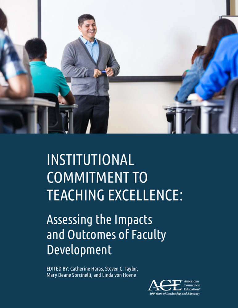 """Book cover for """"Institutional Commitment to Teaching Excellence"""""""