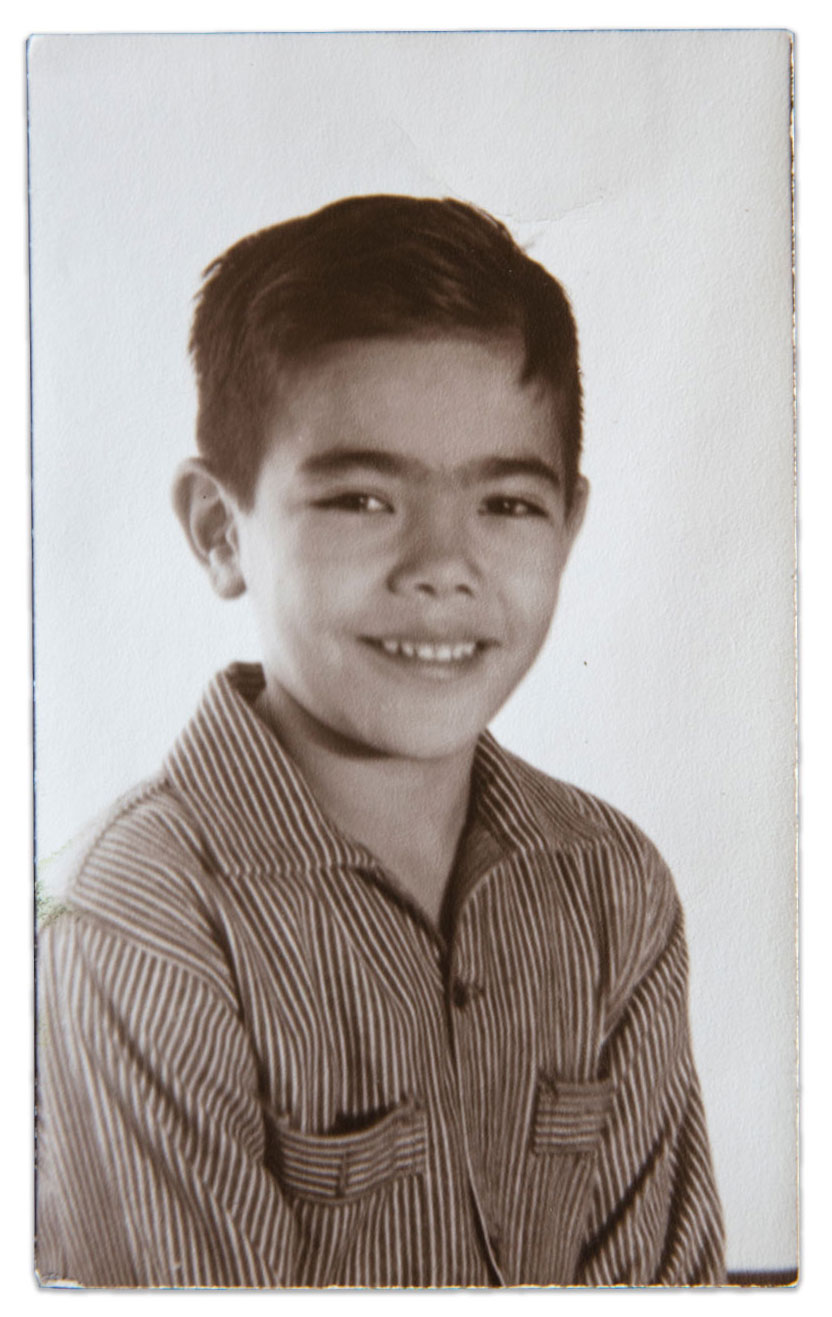 A photograph of Carlos Munoz Jr. as a child.