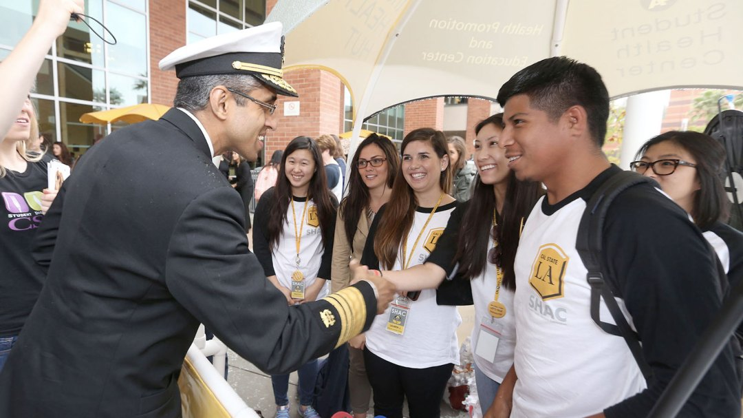 U.S. Surgeon General Vivek H. Murthy visits Cal State LA