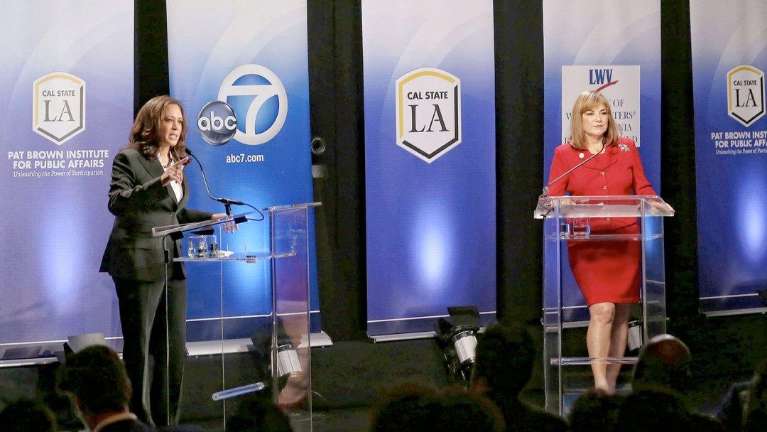 Cal State LA Kamala Harris and Loreta Sanchez debate
