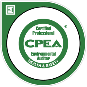 Image of certified professional environmental auditor logo