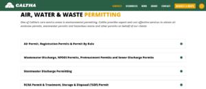 Air permit consultant, wastewater permit consultant, stormwater permit consultant, tank permit, RCRA permit